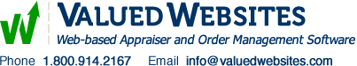 Valued Websites Logo:  web-based appraiser and order management software